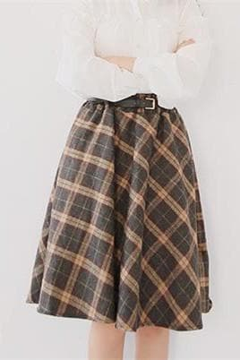 4 Colors England Grids Skirt SP154145 - SpreePicky  - 8