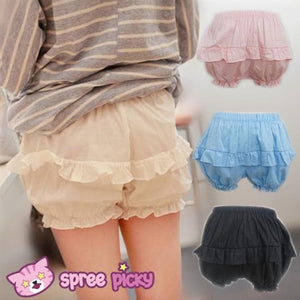 [4 Colors] Flounce Simper Bloomer Shorts SP140974 - SpreePicky  - 1