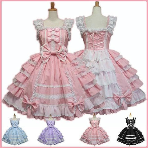 4 Colors Gothic Lolita Princess Cosplay Dess SP153993