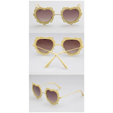 4 Colors Hearts with Lace Frame Sunglasses SP152086 - SpreePicky  - 4