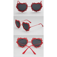 Load image into Gallery viewer, 4 Colors Hearts with Lace Frame Sunglasses SP152086 - SpreePicky  - 5