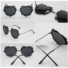 Load image into Gallery viewer, 4 Colors Hearts with Lace Frame Sunglasses SP152086 - SpreePicky  - 2