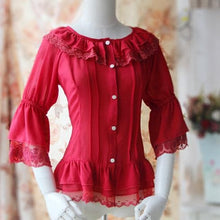 Load image into Gallery viewer, S-XL 4 Colors [Infanta] Lolita Fairy Dance Half Sleeve Blouse SP152085 - SpreePicky  - 2