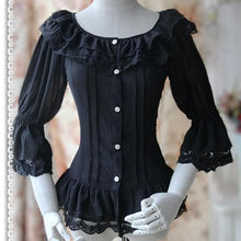 Load image into Gallery viewer, S-XL 4 Colors [Infanta] Lolita Fairy Dance Half Sleeve Blouse SP152085 - SpreePicky  - 3