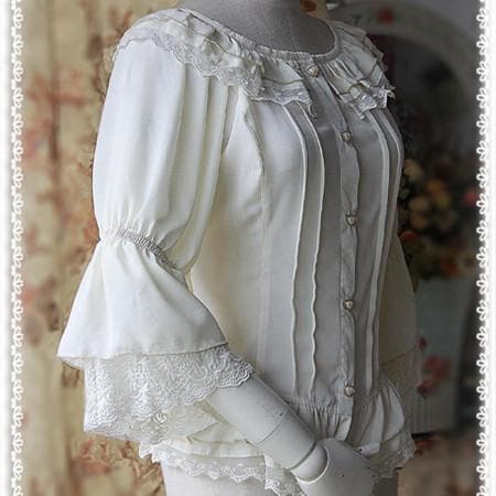 S-XL 4 Colors [Infanta] Lolita Fairy Dance Half Sleeve Blouse SP152085 - SpreePicky  - 5