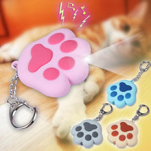 Load image into Gallery viewer, 4 Colors Kawaii Cat Paw LED Light Vocal Key Chain Pedant SP167635