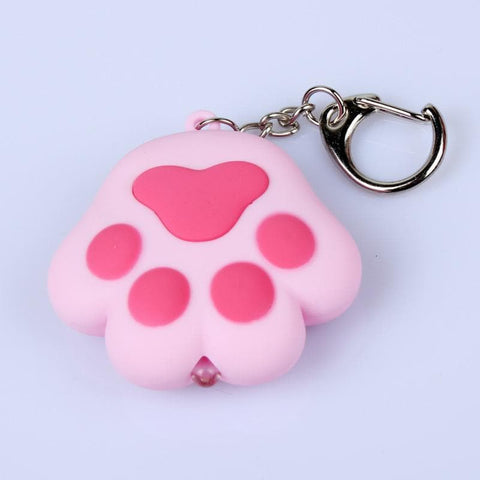 4 Colors Kawaii Cat Paw LED Light Vocal Key Chain Pedant SP167635