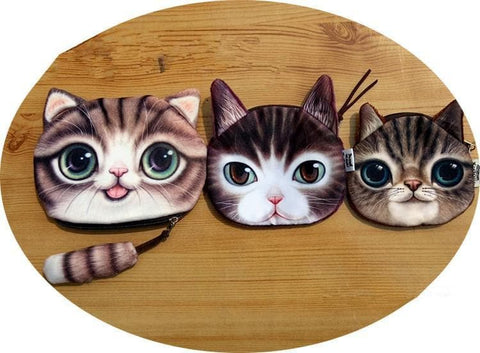 4 Colors Kawaii Little Cat Wallet Purple SP166275