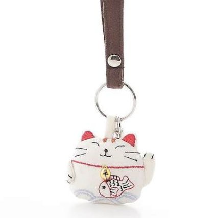 4 Colors Kawaii Lucky Cat Fabrics Key Ring/Key Chain SP165181