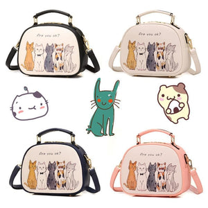 4 Colors Kawaii Kitty Printing Cross Body Bag SP1812504
