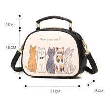 Load image into Gallery viewer, 4 Colors Kawaii Kitty Printing Cross Body Bag SP1812504