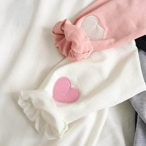 4 Colors Kawaii Peach Heart Jumper Top SP166153