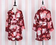 Load image into Gallery viewer, 4 Colors Kawaii Sakura Kimono Bathsuit/Haori Coat SP166260