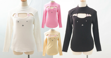 Load image into Gallery viewer, 4 Colors Kitty Open Chest Sweater SP154123 - SpreePicky  - 6