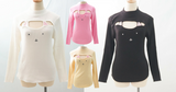 4 Colors Kitty Open Chest Sweater SP154123 - SpreePicky  - 6