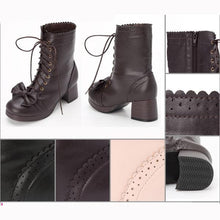 Load image into Gallery viewer, 4 Colors Lolita Bowknot Princess Boots SP168064
