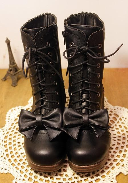 4 Colors Lolita Bowknot Princess Boots SP168064