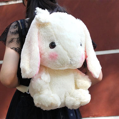 4 Colors Lolita Lop-ear Bunny Plush Backpack SP165027