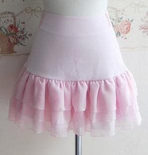 3 Colors Lolita Princess Elegent Knotbow Chiffon Skirt SP141282 - SpreePicky  - 1