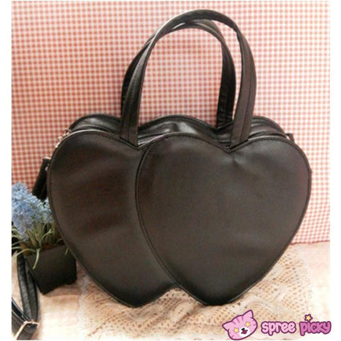 4 Colors Lolita Sweet Double Hearts Hand Bag SP140445 - SpreePicky  - 4