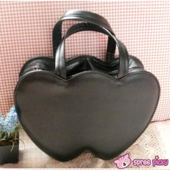 4 Colors Lolita Sweet Double Hearts Hand Bag SP140445 - SpreePicky  - 3