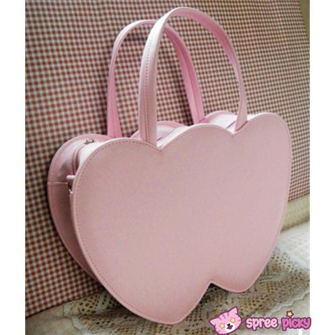4 Colors Lolita Sweet Double Hearts Hand Bag SP140445 - SpreePicky  - 2