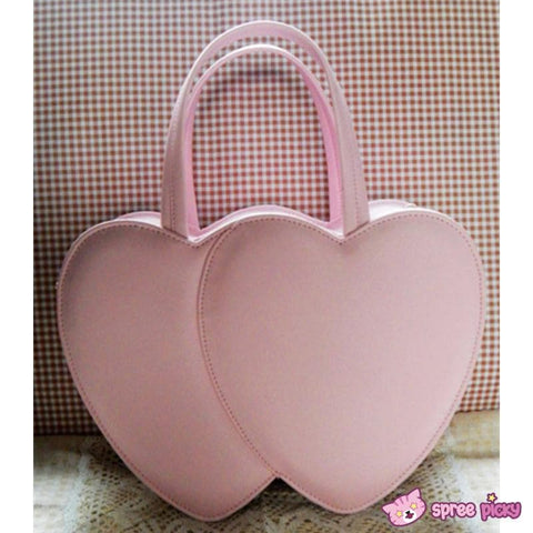 4 Colors Lolita Sweet Double Hearts Hand Bag SP140445