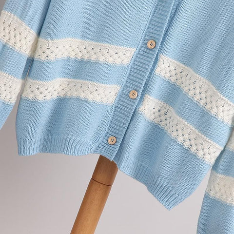 4 Colors Long Sleeve Cardigan Sweater Coat SP154450 - SpreePicky  - 11