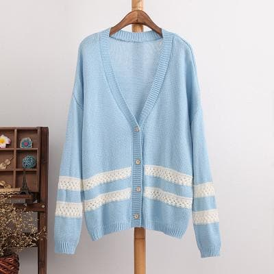 4 Colors Long Sleeve Cardigan Sweater Coat SP154450 - SpreePicky  - 5