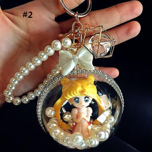 4 Colors Sailor Moon Chibi Princess Key/Bag Chain SP1812115
