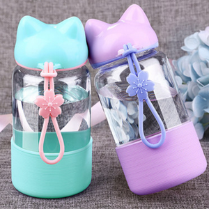 4 Colors Sakura Cateen Neko Kitty Water Bottle SP1710403