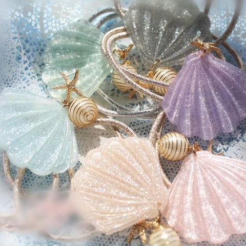4 Colors Shell Hair Ring SP167377