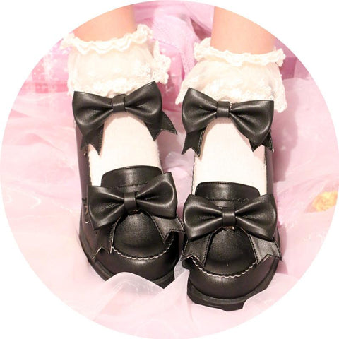 4 Colors Starry Bow Lolita Shoes SP1710283