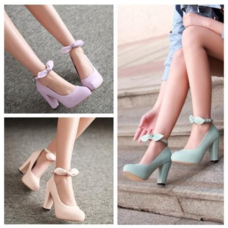 4 Colors Sweet Bowknot High Heel Shoes SP168580