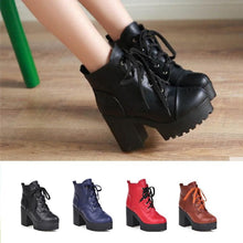 Load image into Gallery viewer, 4 Colors Warming High Heel Bandage Boots SP168505