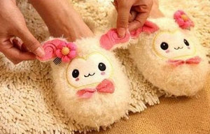 4 colors Kawaii Cutie Animal Alpaca Fleece Home Slippers SP153521 - SpreePicky  - 4