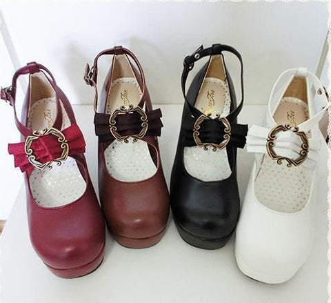 4 colors Lolita Princess Bow Shoes SP153553 - SpreePicky  - 3