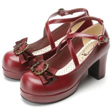 Load image into Gallery viewer, 4 colors Lolita Princess Bow Shoes SP153553 - SpreePicky  - 4
