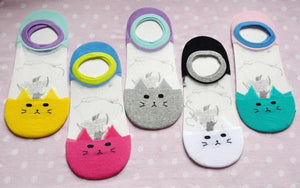 5 Color Kawaii Cat See Through Socks SP167637