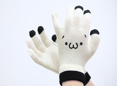 [5 Colors 6 Emoji] Unisex Adorable Emoji Touch-Sensitive Thick and Fleece Gloves SP141612 - SpreePicky  - 11