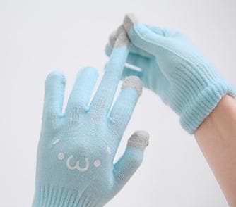 [5 Colors 6 Emoji] Unisex Adorable Emoji Touch-Sensitive Thick and Fleece Gloves SP141612 - SpreePicky  - 14