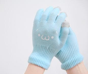 [5 Colors 6 Emoji] Unisex Adorable Emoji Touch-Sensitive Thick and Fleece Gloves SP141612 - SpreePicky  - 15