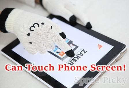 [5 Colors 6 Emoji] Unisex Adorable Emoji Touch-Sensitive Thick and Fleece Gloves SP141612 - SpreePicky  - 2