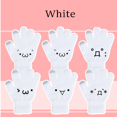 [5 Colors 6 Emoji] Unisex Adorable Emoji Touch-Sensitive Thick and Fleece Gloves SP141612 - SpreePicky  - 7