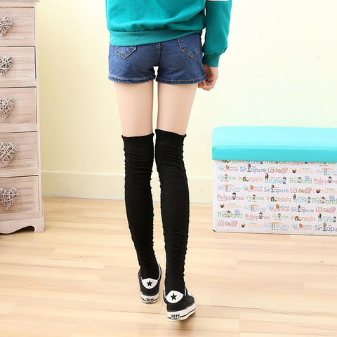 5 Colors Bowknot Thigh High Long Socks SP153529 - SpreePicky  - 14