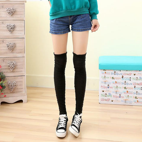 5 Colors Bowknot Thigh High Long Socks SP153529 - SpreePicky  - 13