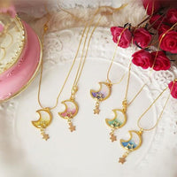 5 Colors Delicate Starry Sky Moon Lolita Necklace SP166833