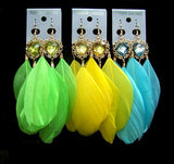 5 Colors Feather Holiday Earring SP152541 - SpreePicky  - 3