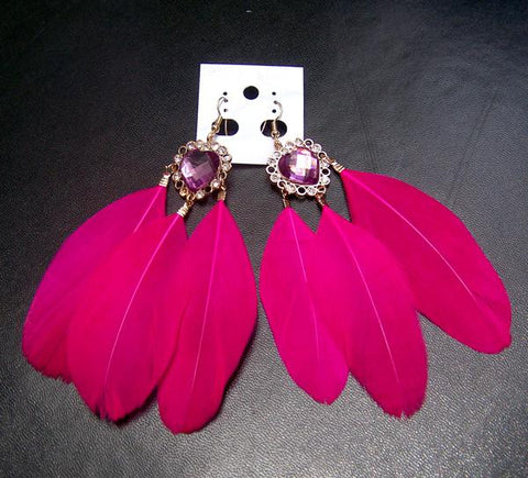 5 Colors Feather Holiday Earring SP152541 - SpreePicky  - 5