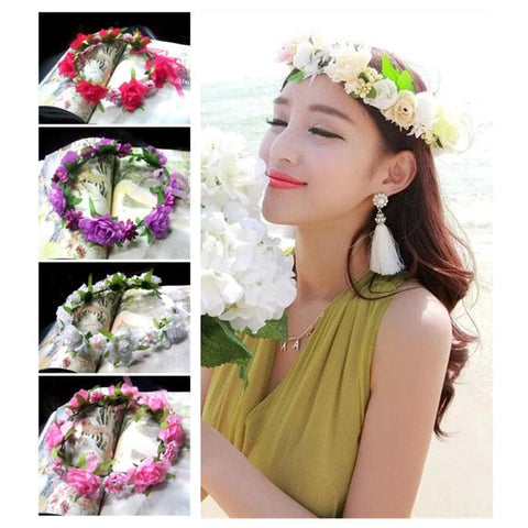 5 Colors Hand Made Sweet Sweet Flower Crown SP152076